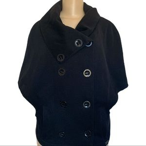 Buffalo David Britton Fitted Double Breasted Poncho Jacket Coat